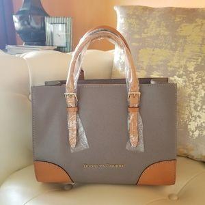 Dooney & Bourke Janine Leather Satchel Taupe NWT